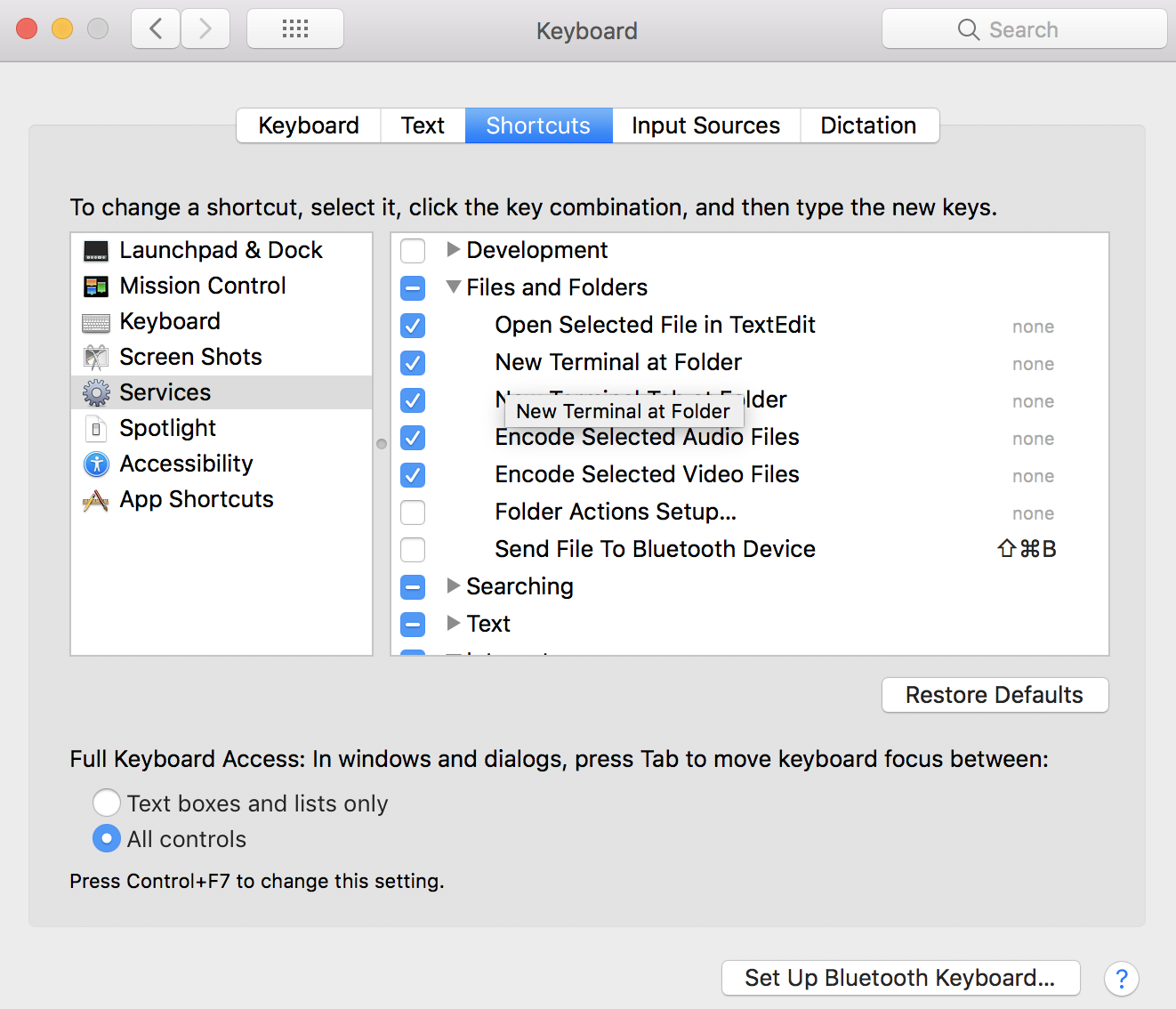 Add open-in-terminal option for Finder Mac OS - Wale