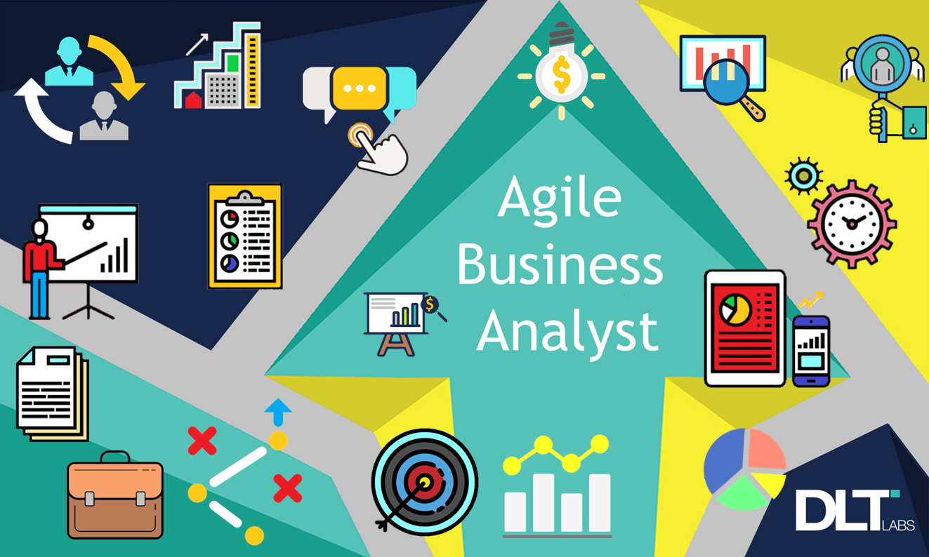 A picture depicting an agile business analyst, created by DLT Labs