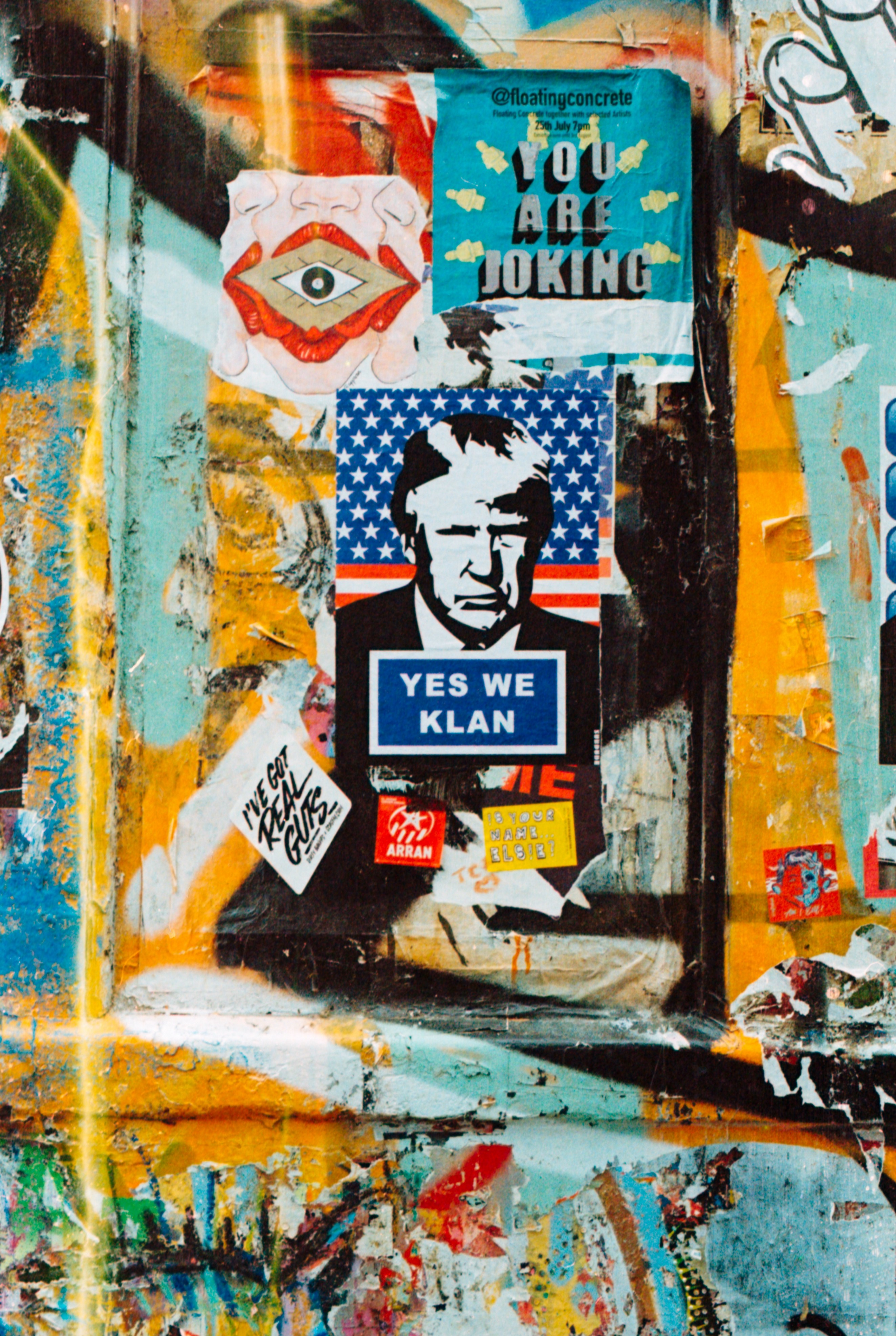 """Another New York wall painting. """"Yes We Klan"""""""
