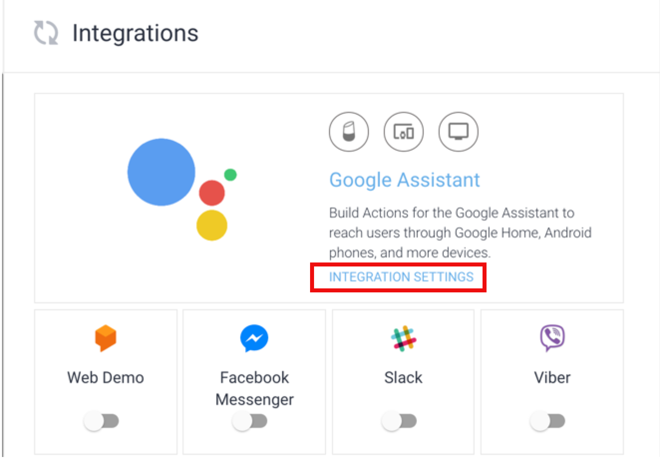 Home Automation using Google Assistant + Dialogflow +