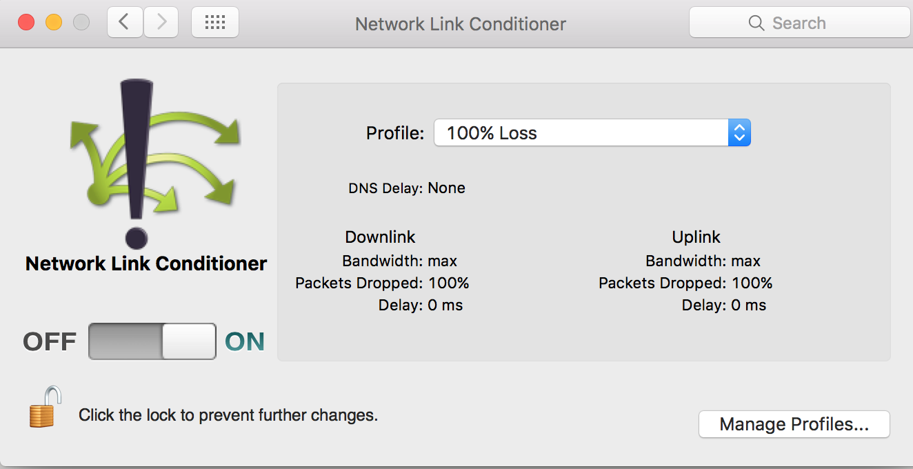 Use Network Link Conditioner When Testing Your App - Yogev