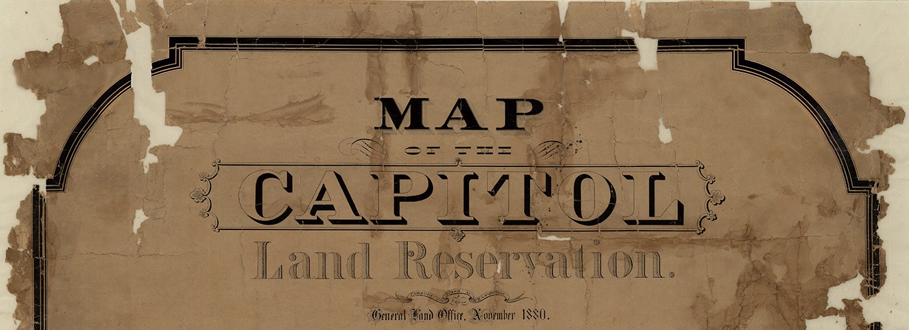 Map Of Texas Capitol.Map Of The Capitol Land Reservation Save Texas History Medium
