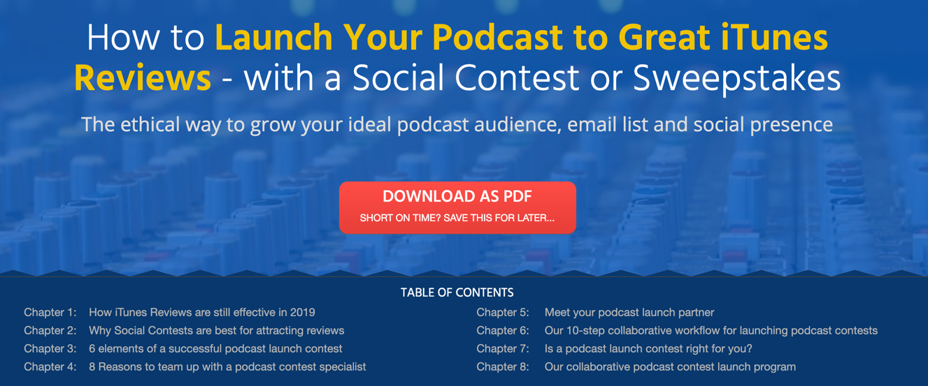 Podcast Marketing with Launch Contests