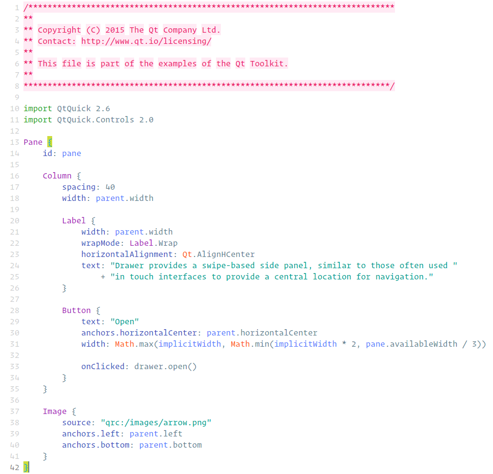 QtMaterial v2, Qt Creator Syntax color theme inspired by