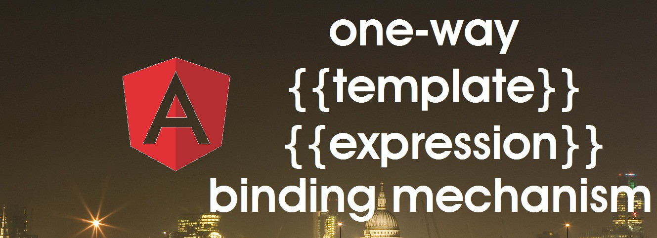 One-way template expression binding mechanism in Angular