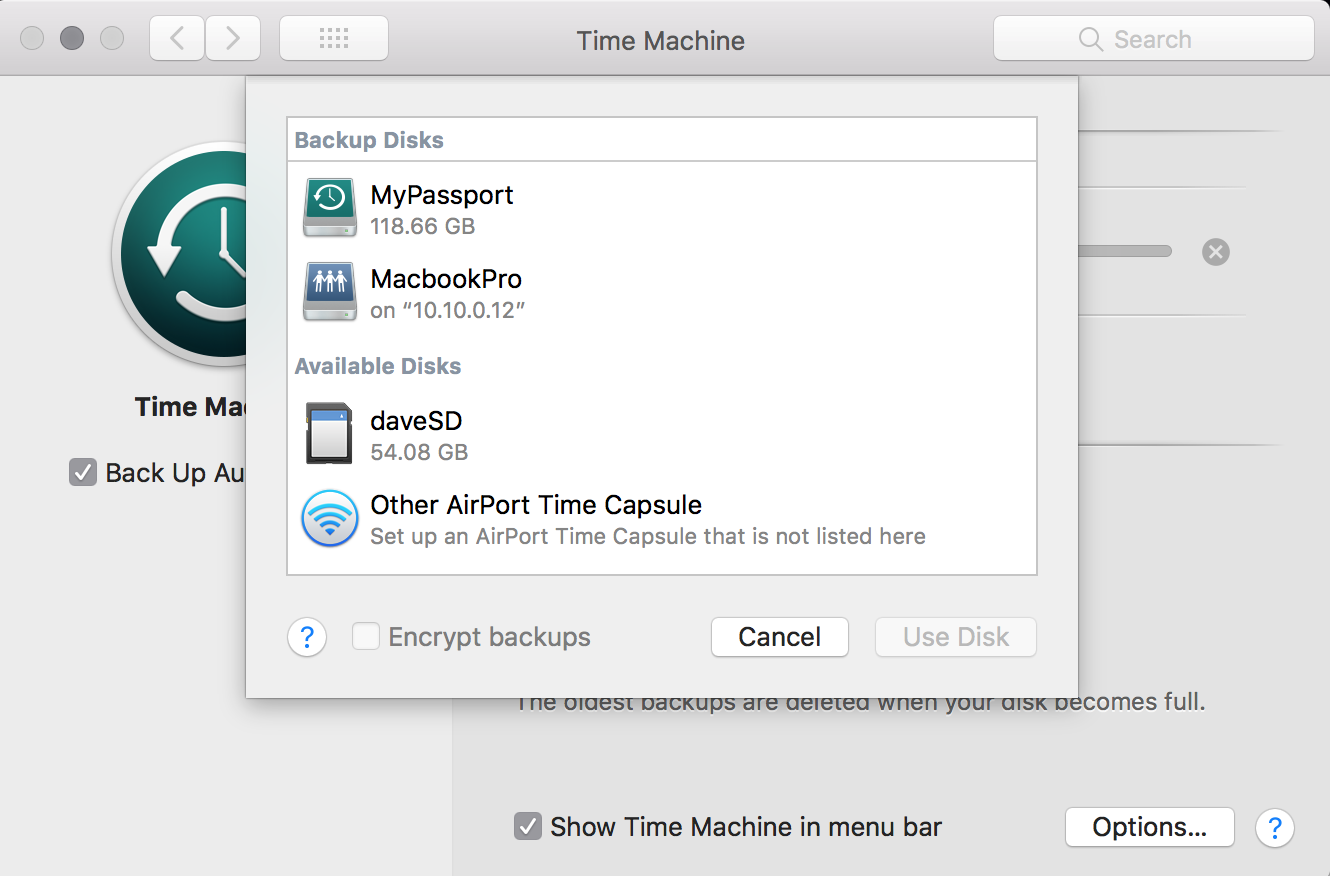 Create an Apple Time machine server using Docker   - The