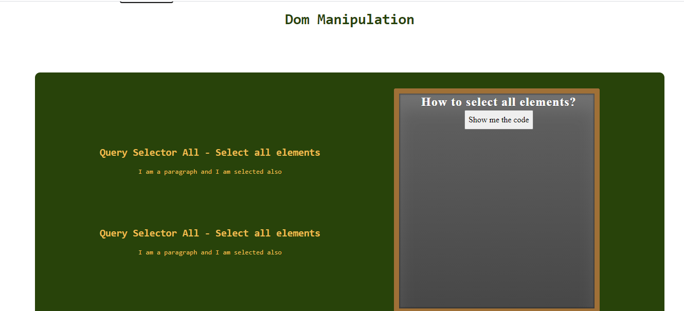 Image of the project about Dom Manipulation