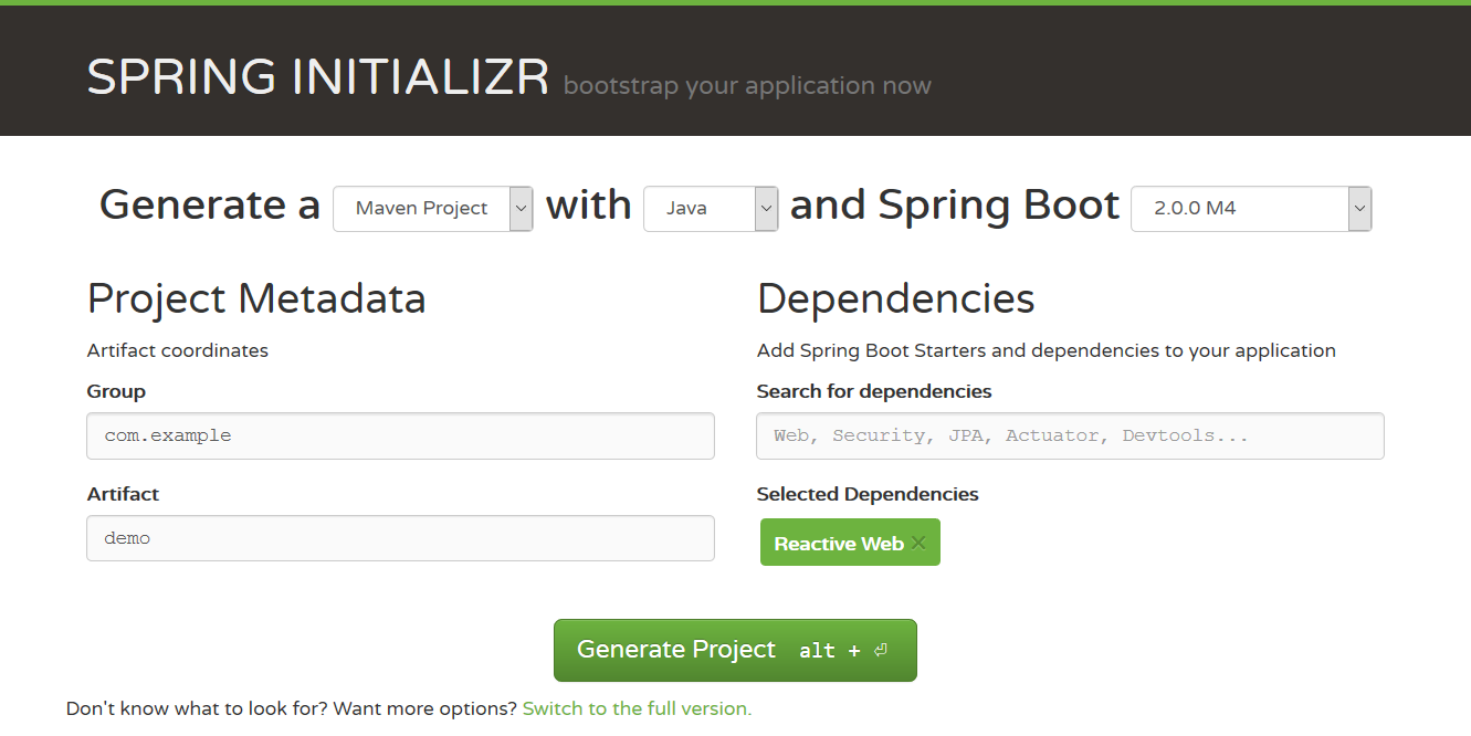 Build a Reactive application with Spring Boot 2 0 - Hantsy