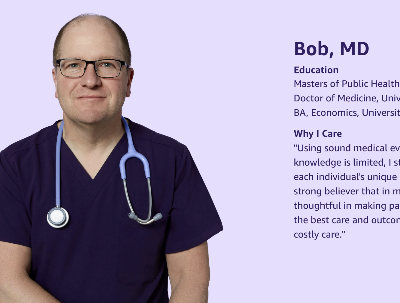 Bob, MD from Amazon.care