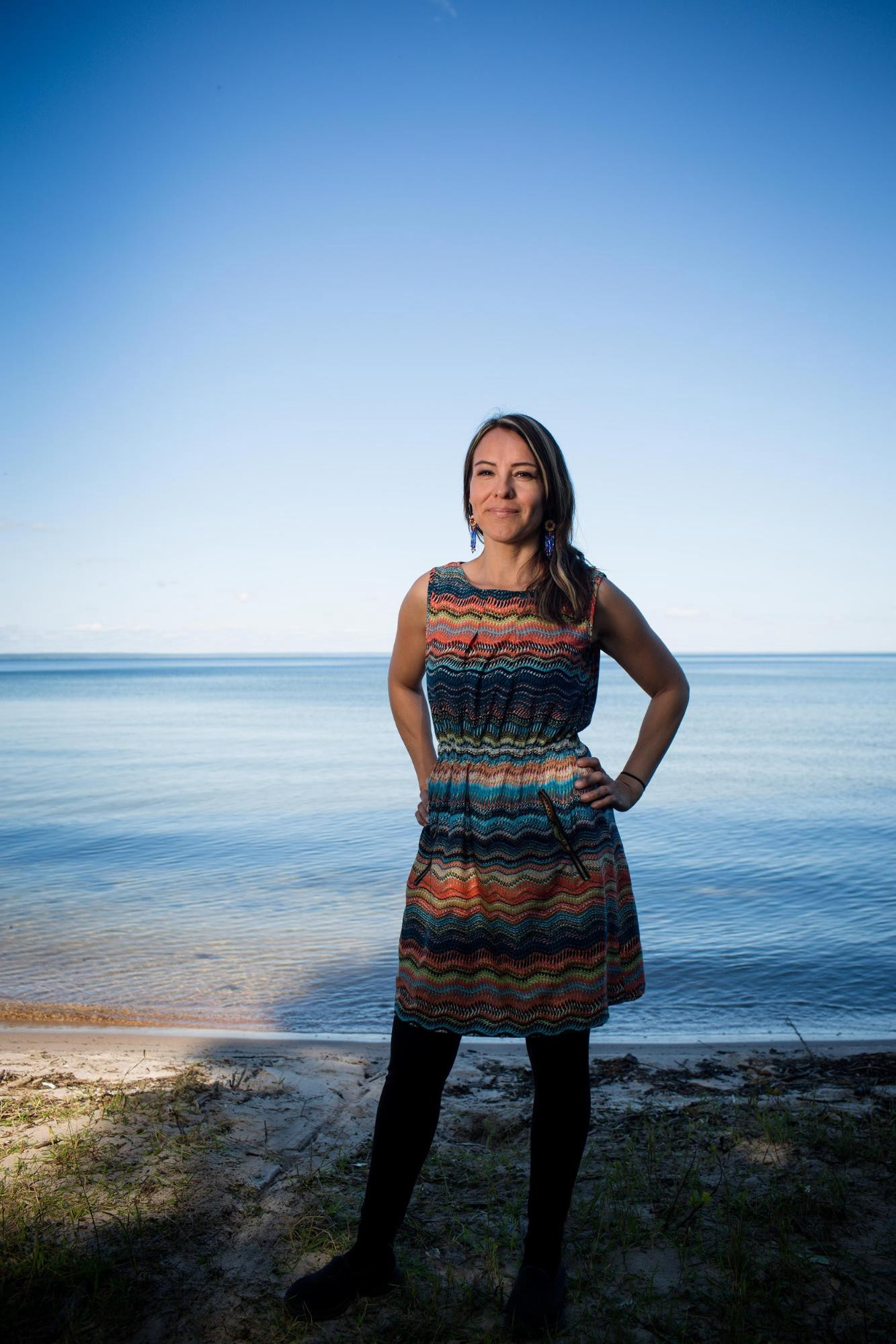 Portrait photo of Jesse Cardinal (Métis), of Keepers of The Water.