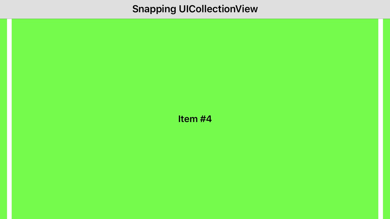 Snapping UICollectionView in Xamarin iOS - Pavel Sulimau