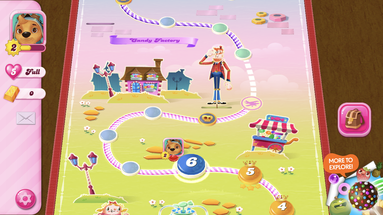Screenshot of the level map in landscape mode
