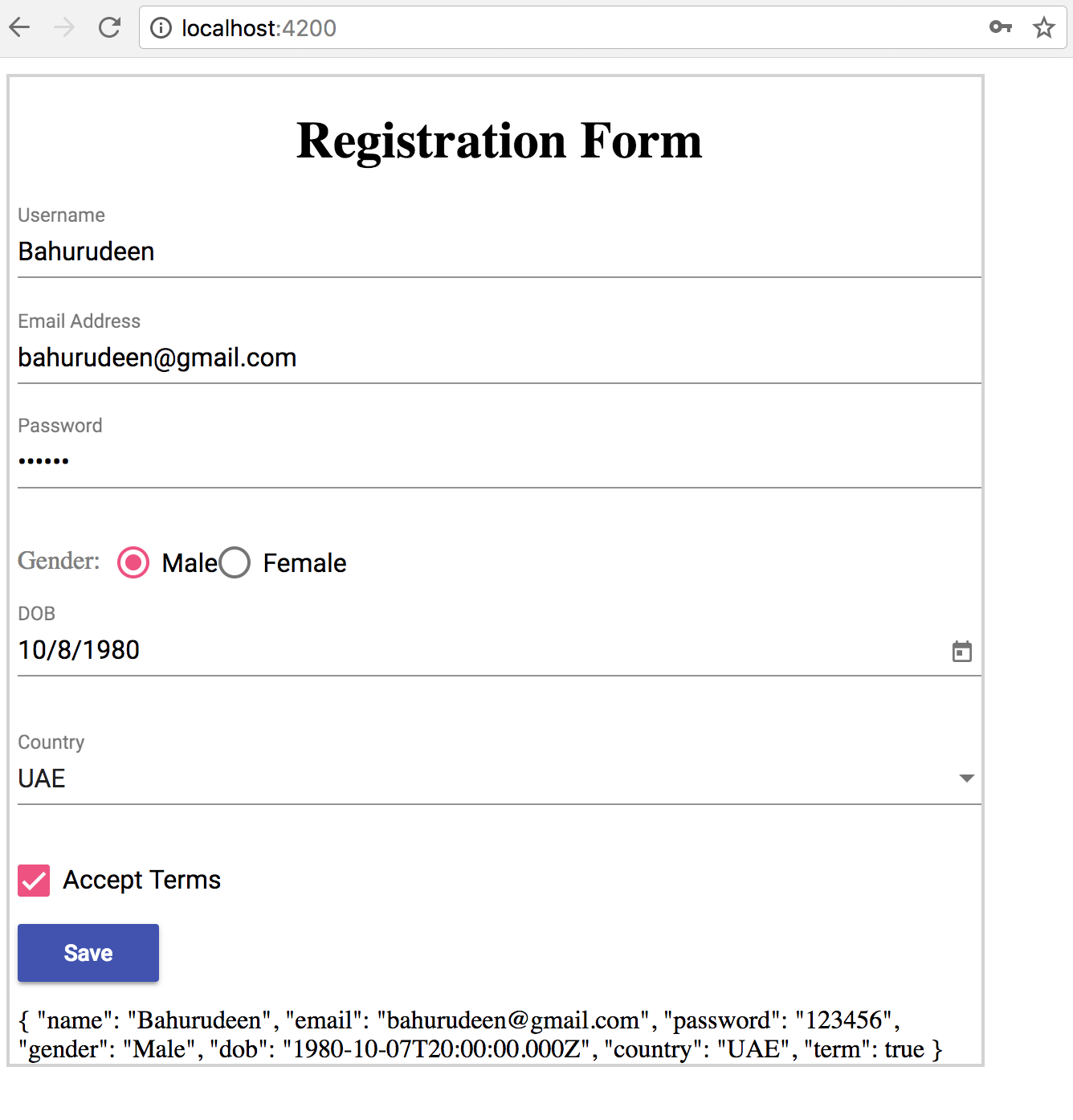 Create a dynamic form with configurable fields and