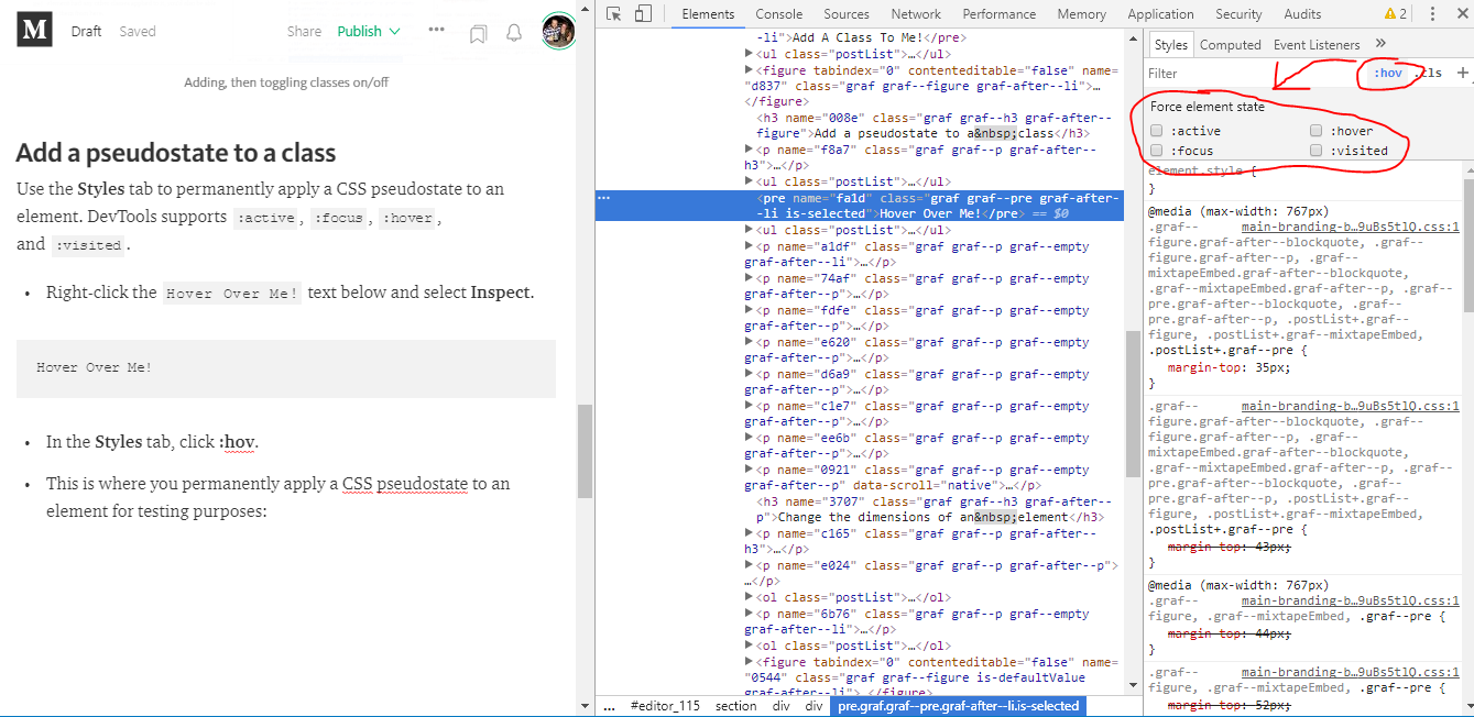 How to View and Edit CSS in Chrome Developer Tools - codeburst