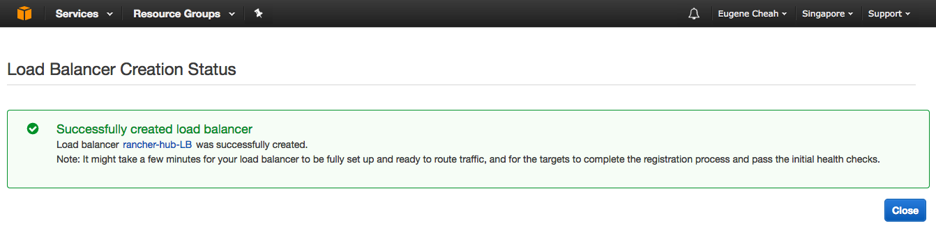 Setting up rancher master on AWS (for hybrid-cloud) : in 7 steps