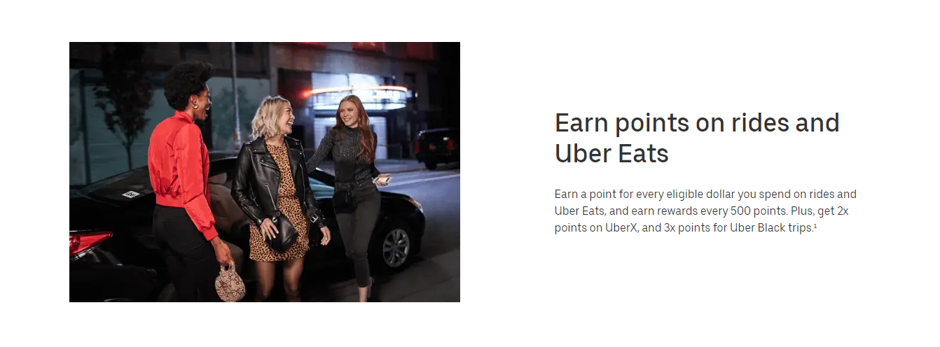 Example of Uber loyalty points