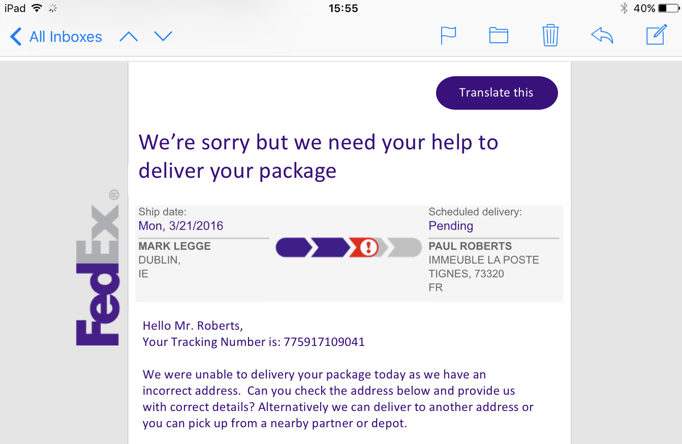Redesigning A Small Piece Of The Fedex Experience By Paul Roberts Medium