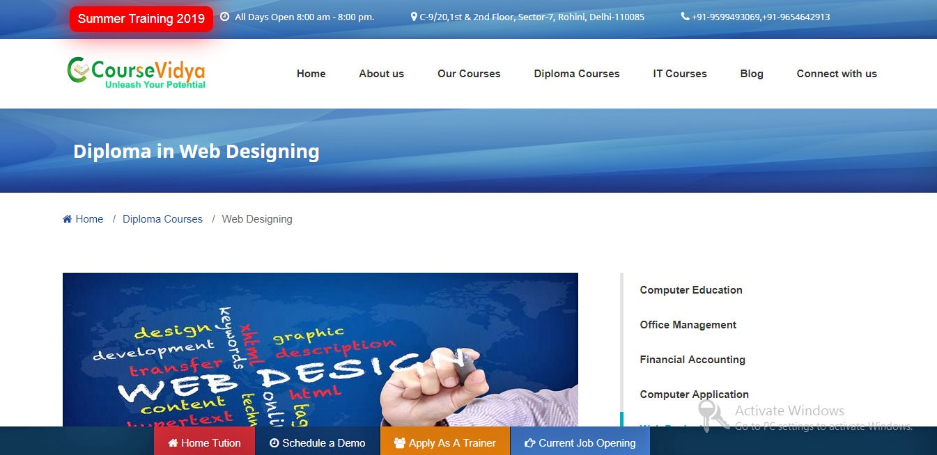 Web Designing Training Institute In Delhi By Course Vidya Medium