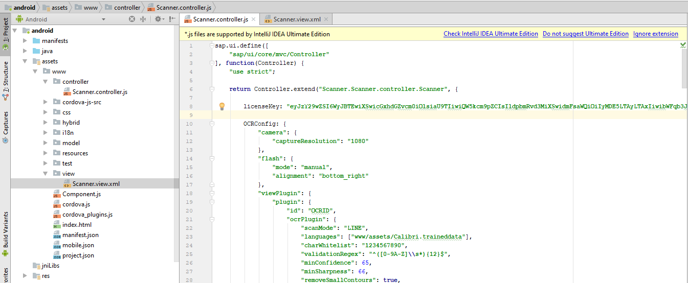 Build Android SAP Fiori OCR Scanner with SAP Web IDE and