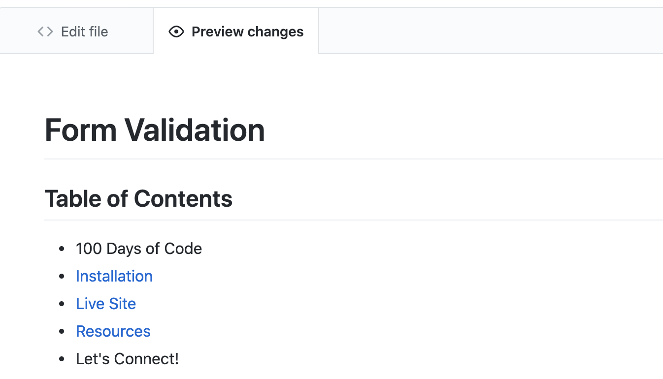 Preview Changes on Github