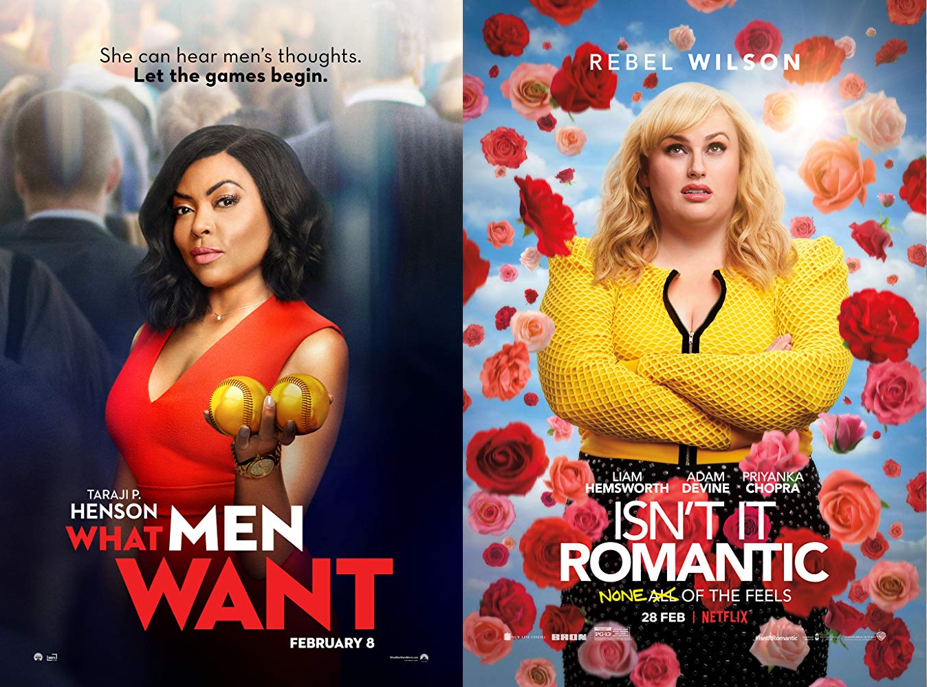 Battle of the Rom-Coms 2019: What Men Want vs  Isn't It
