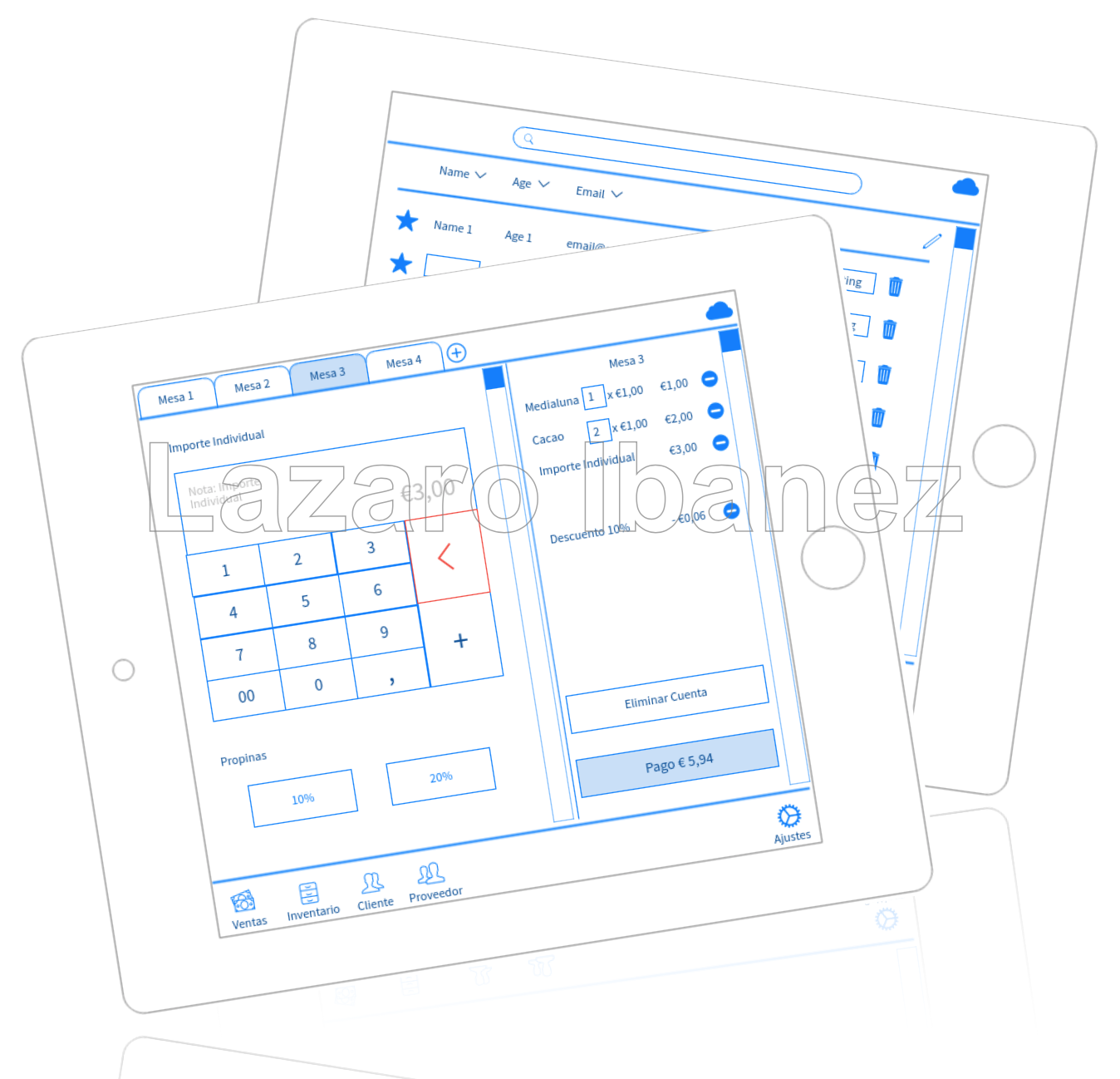 Wireframing A Point Of Sale Pos Tablet App For Restaurants