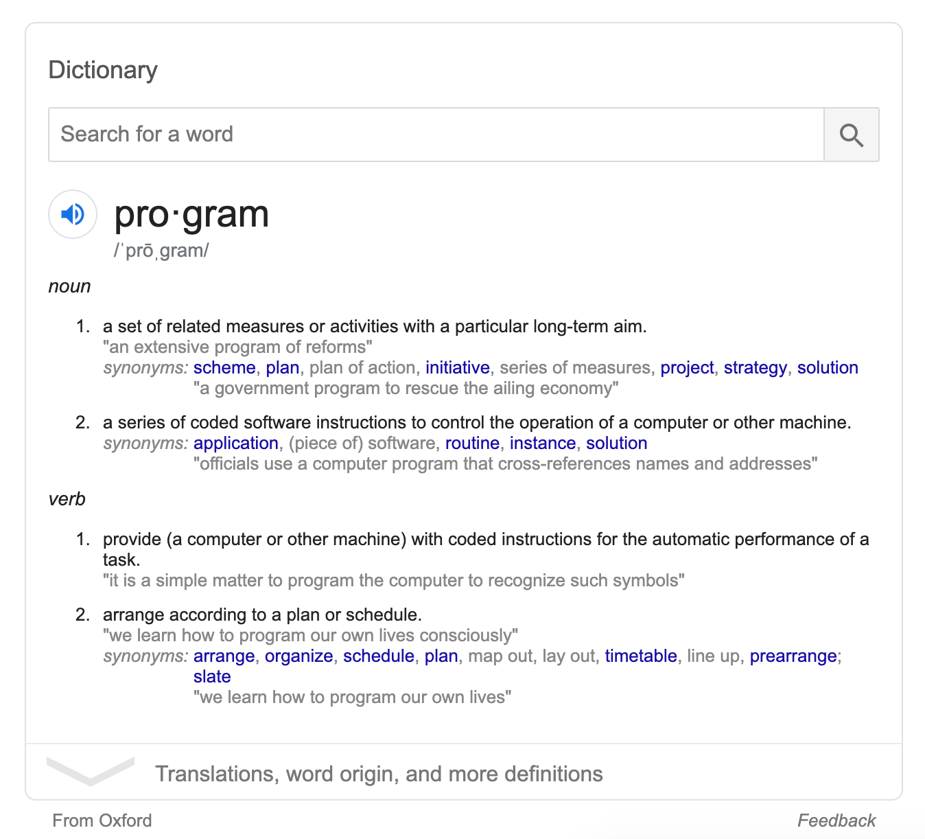 Start to Finish: Let's Build Google's Dictionary Widget