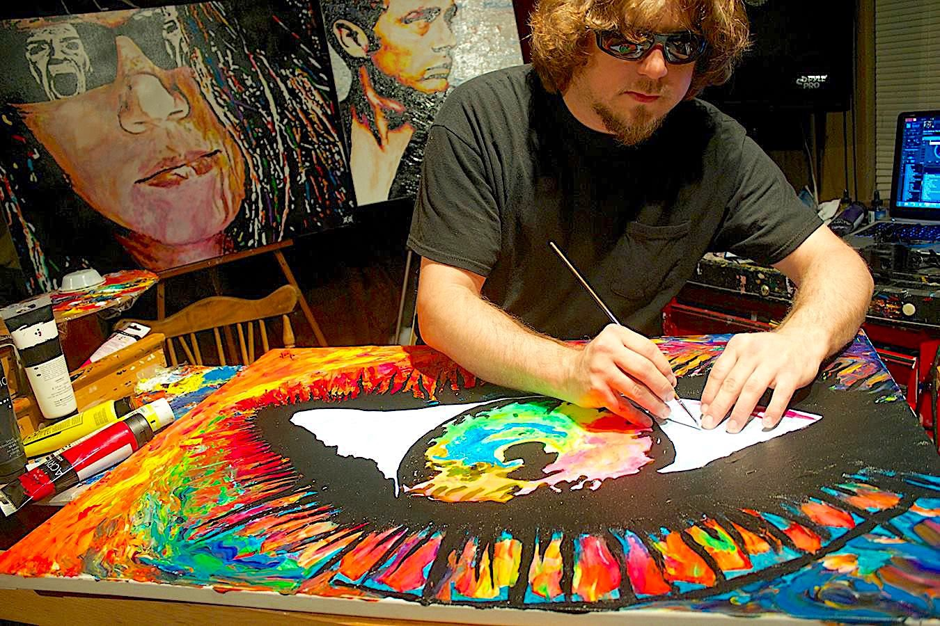 Painting Blind With Visually Impaired Visual Artist John Bramblitt By D Emptyspace D Emptyspace Medium
