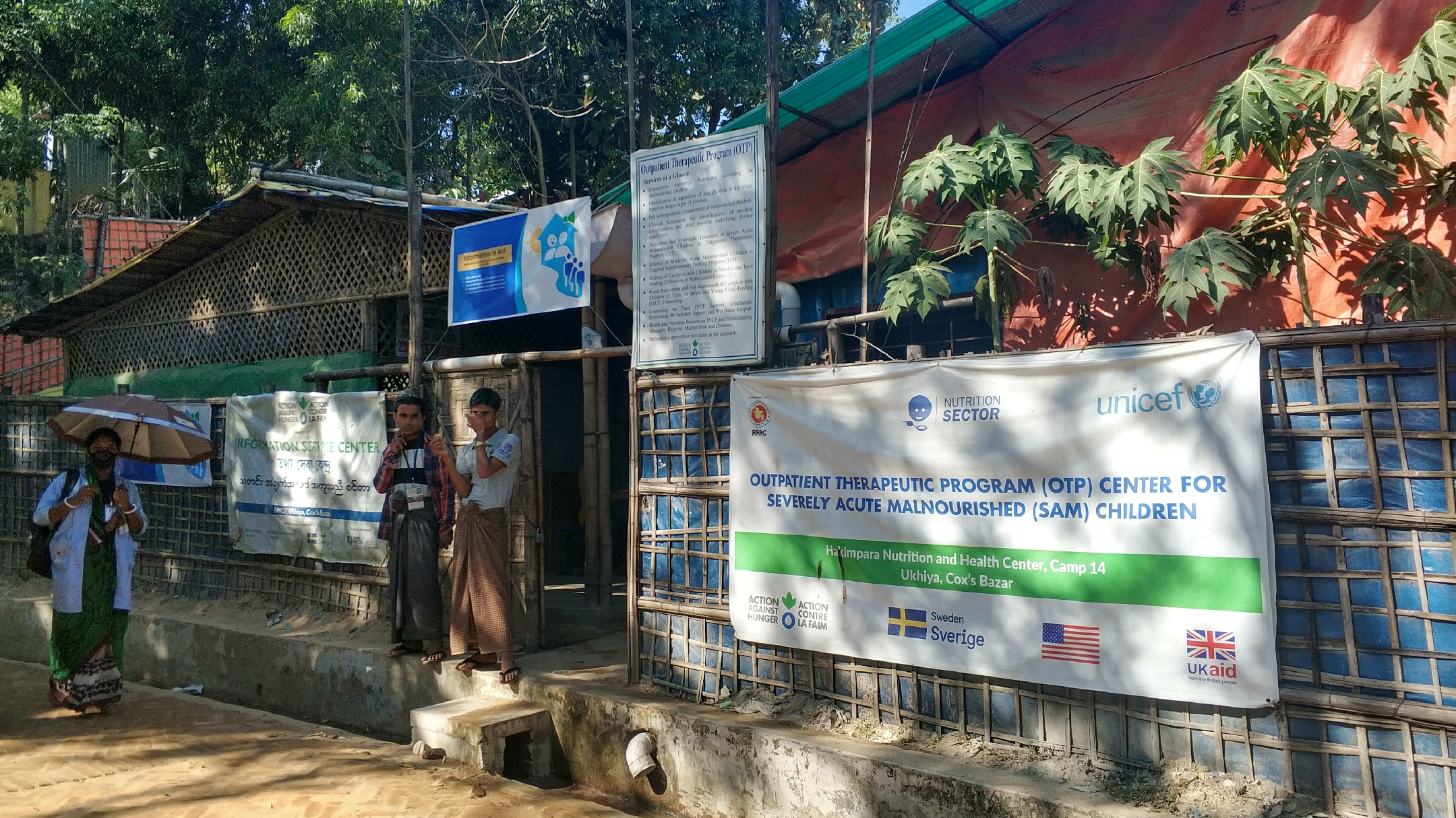 A UNICEF supported therapeutic center for malnourished children at kutupalong refugee camp