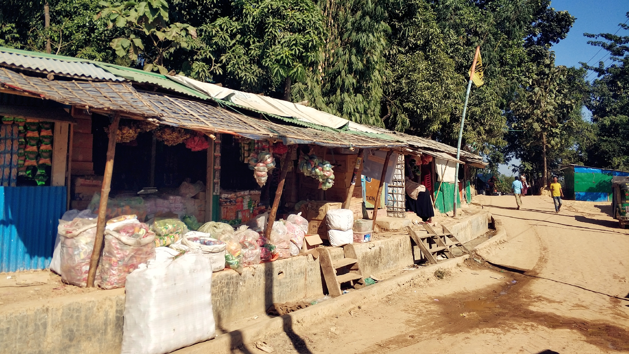 Some shops owned by locals and refugees inside Camp 14 kutupalong