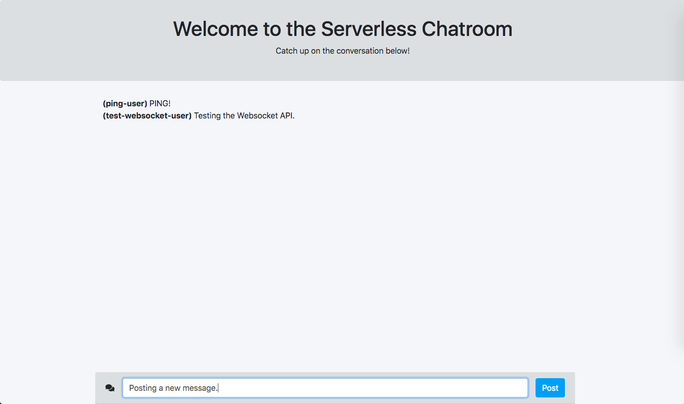 Creating a Chat App with Serverless, WebSockets, and Python