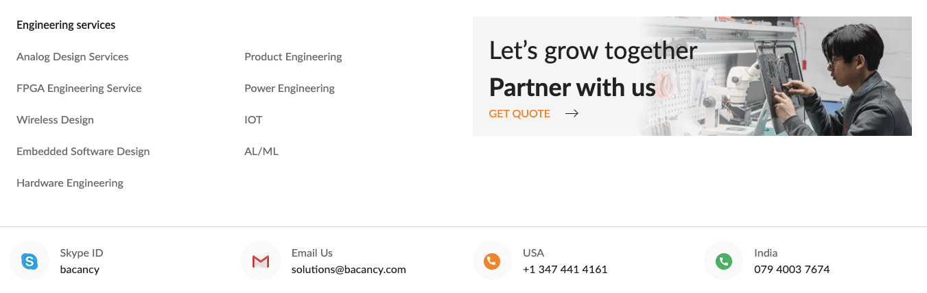 bacancy systems wireless design services