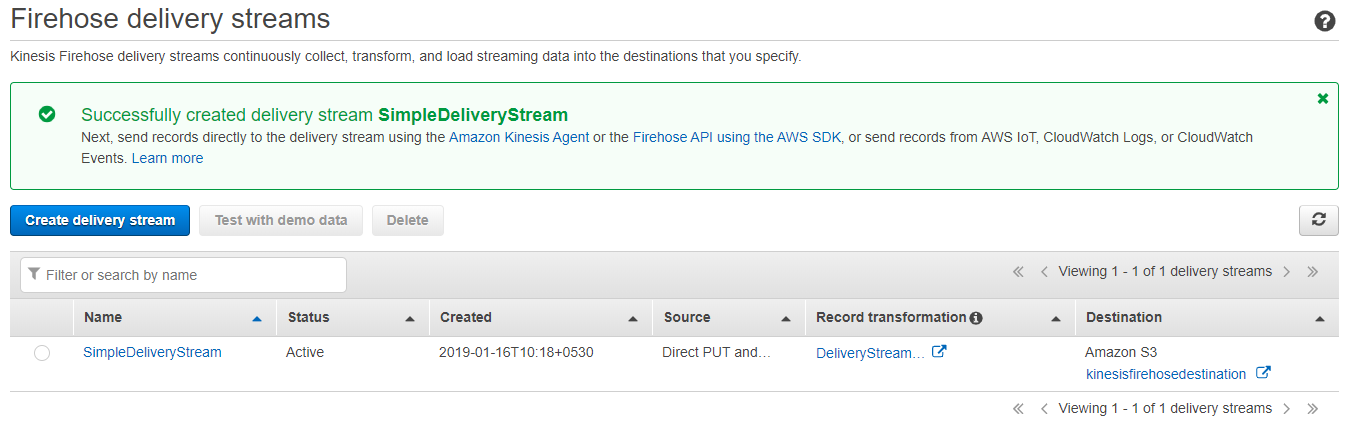 Delivering Real-time Streaming Data to Amazon S3 Using