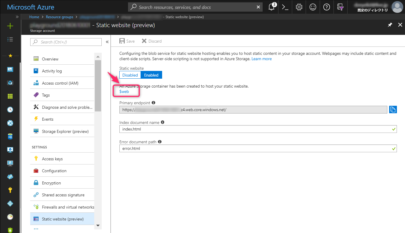 Try the Static Website support (preview) of Azure Storage