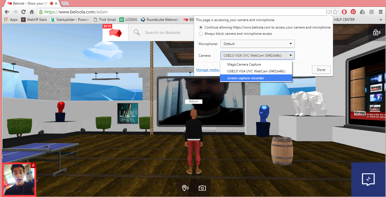 You can now live stream and screencast in your personal 3D