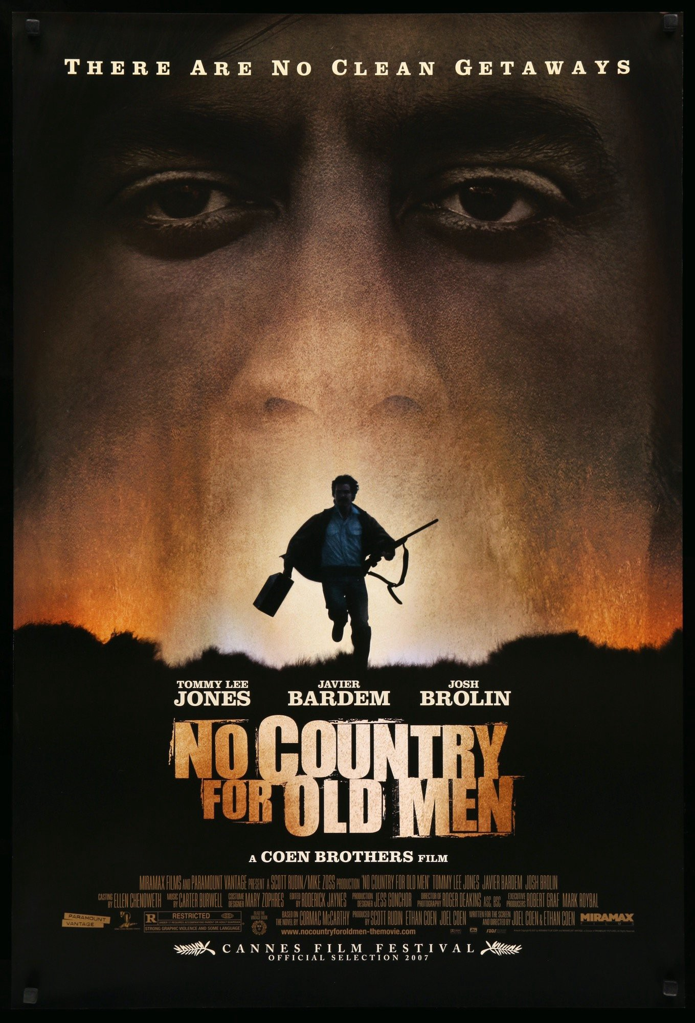 Poster for the film No Country For Old Men