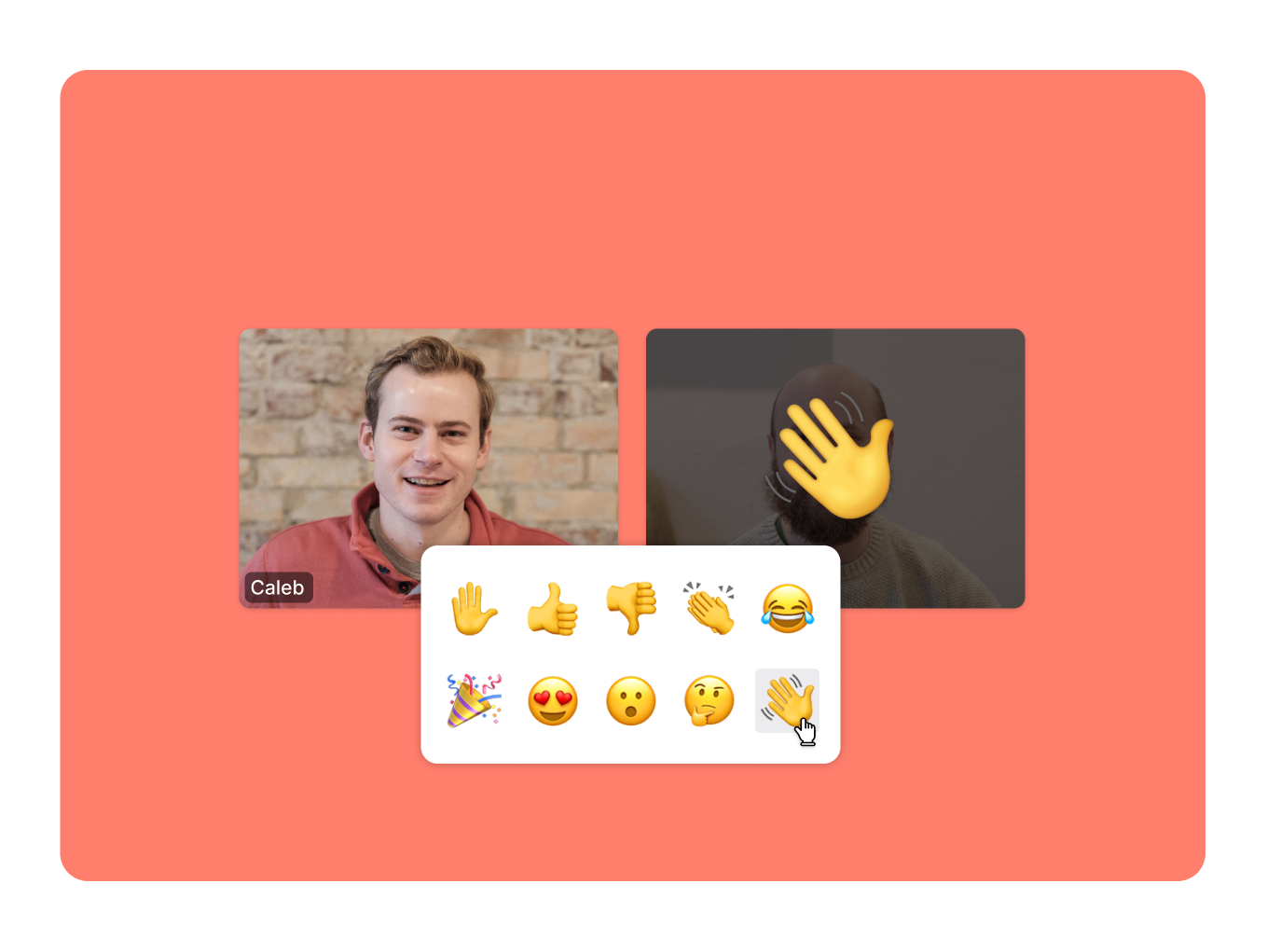 React with emojis without having to interrupt the speaker 🤗