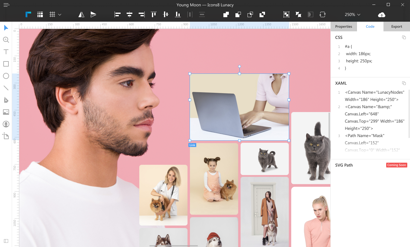Lunacy 4 0 Free Sketch For Windows With Built In Design Assets By Icons8 Prototypr