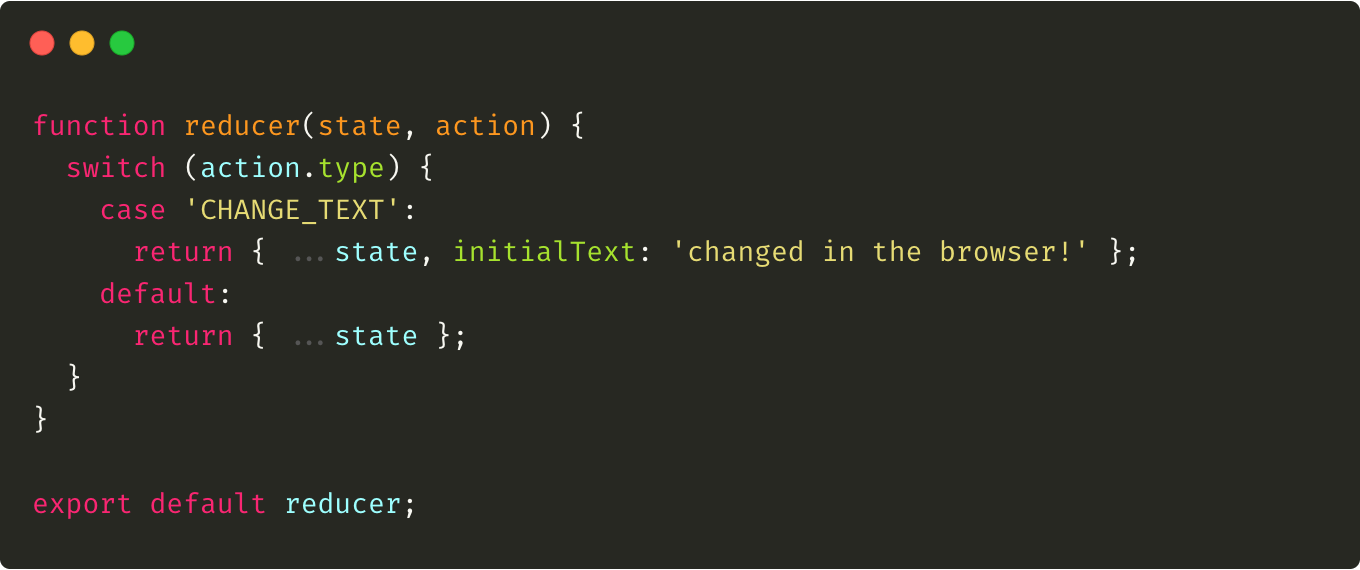 An example of reducer