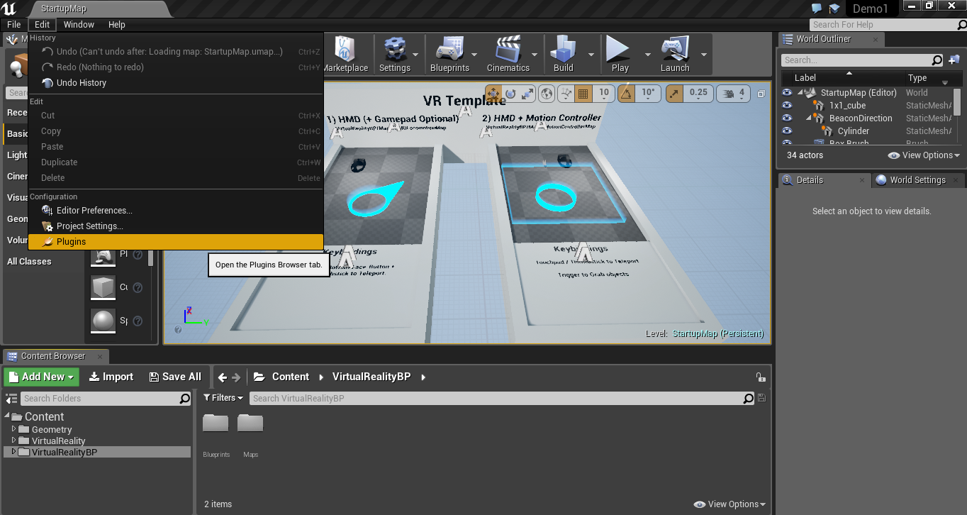 Creating a basic VR demo using Unreal - Virtual Reality Pop