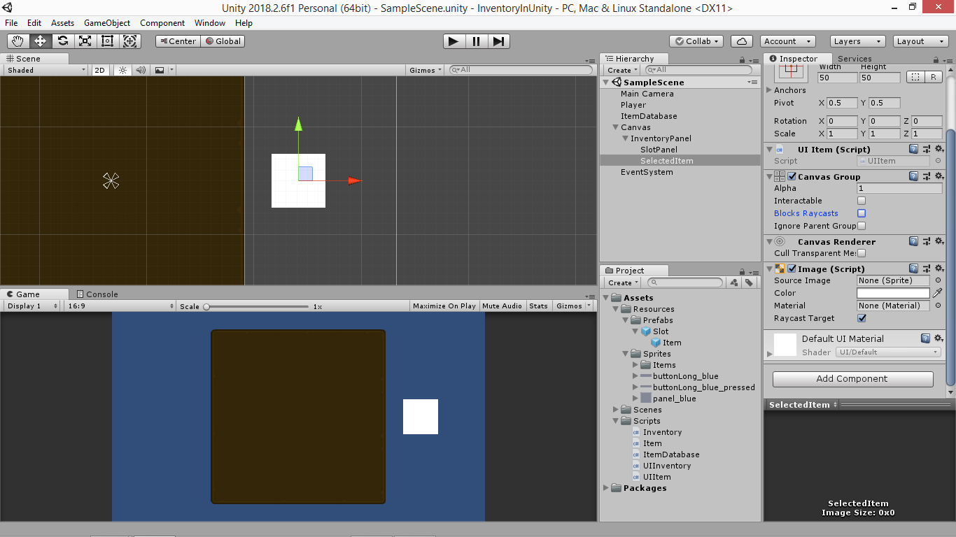 Create an Unity inventory part 5: Drag and drop - Yone