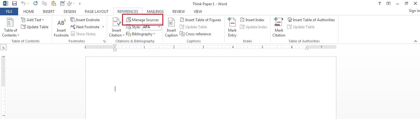 """Cite Your References"""": Citation Tips and Tricks Using MS Word"""