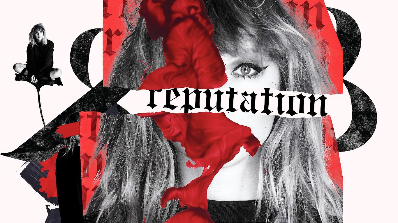 red and black photo mashup about reputation—focus on attractive womans eye