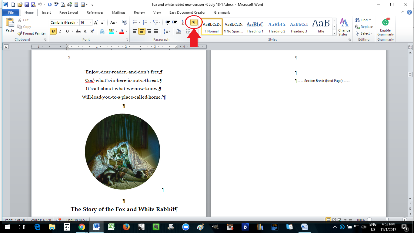 Paperback Formatting In MS Word: How to Self-Publish a Book