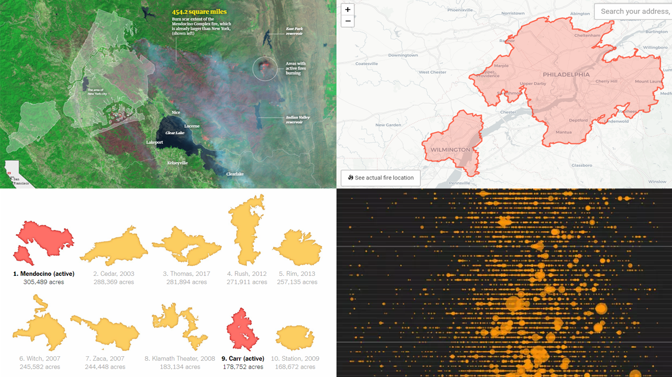 California Wildfire In Maps And Charts Dataviz Weekly