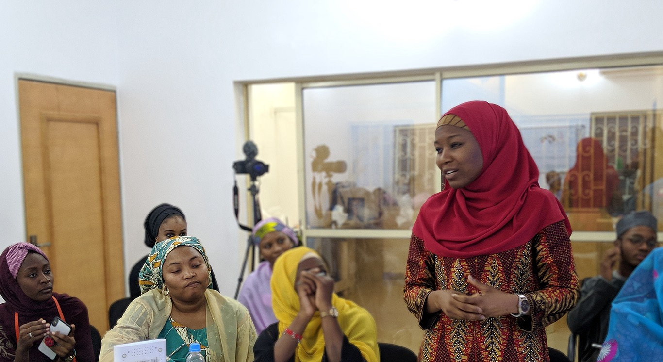 Ruqayya Sani facilitating a conversation with young leaders