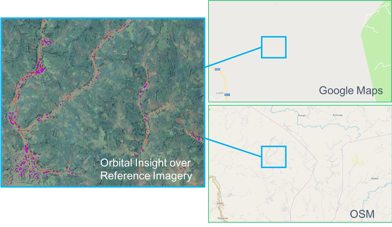 Remote population centers versus OSM data