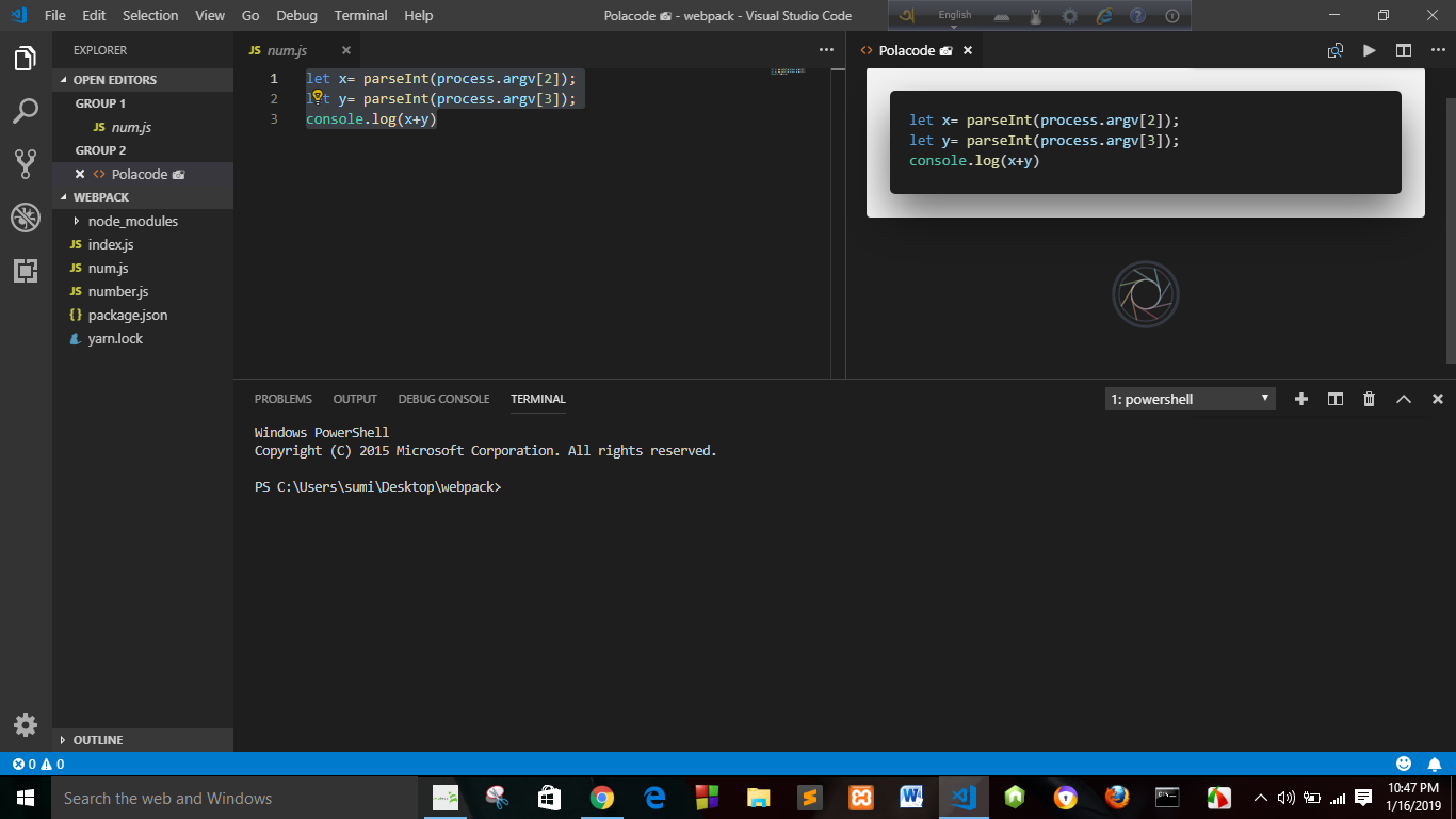 Use of 'Polacode' in 'VSCode' Editor - Sahela Sumi - Medium