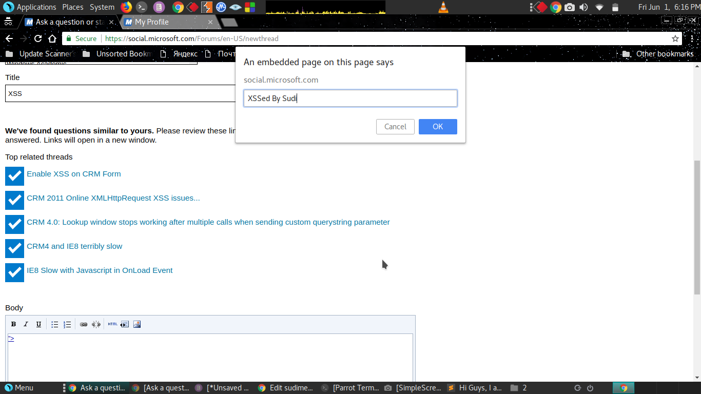 XSS in Microsoft subdomain - Noteworthy - The Journal Blog