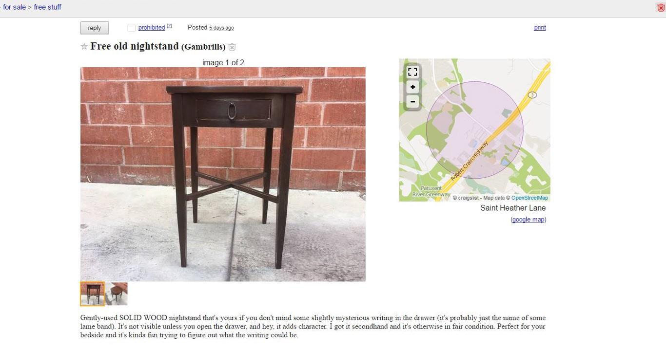 Stupendous Bizarre Nightstands On Craigslist Now Hidden In La Ny Caraccident5 Cool Chair Designs And Ideas Caraccident5Info